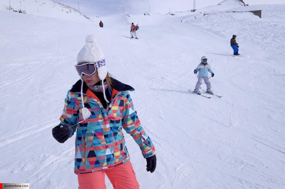 Iranians ski at the Dizin ski resort, northwest of Tehran