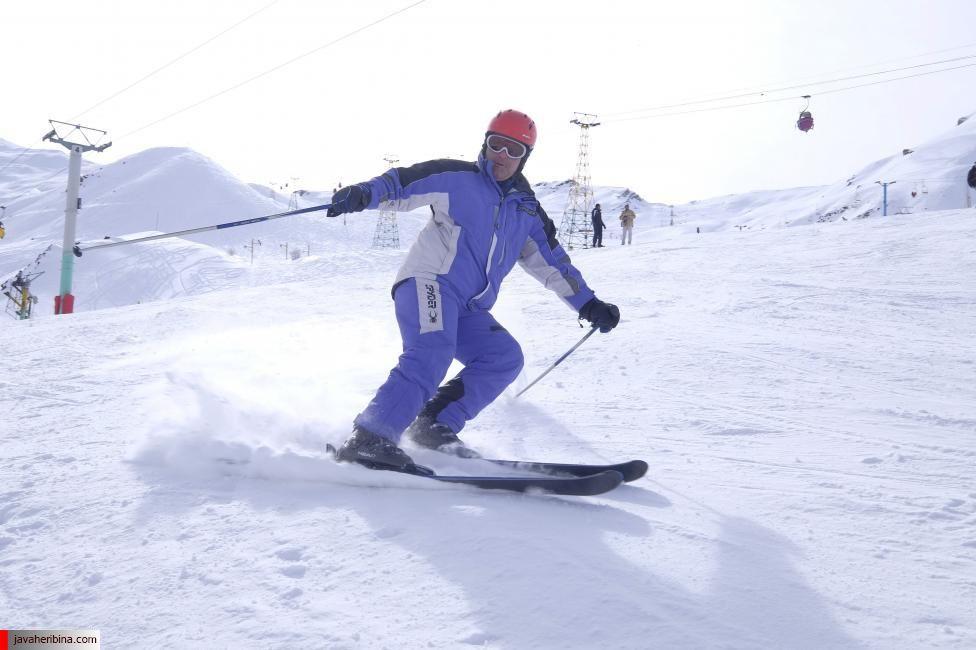 Iranian man skis at the Dizin ski resort, northwest of Tehran