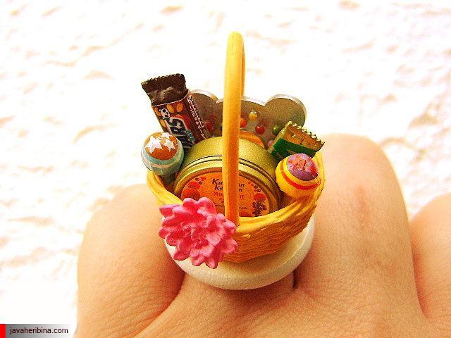 انگشتر به شکل موادغذایی