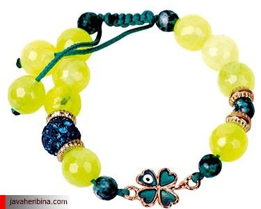 دستبند های رنگی با سنگ های زیبا