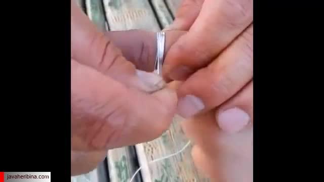 انگشتر تنگ و خارج کردن آن از دست