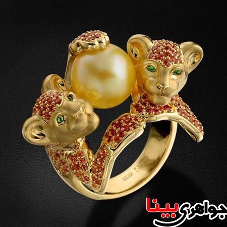 انگشترهای زیبا به شکل حیوانات