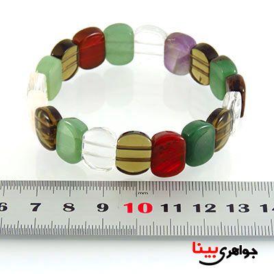 دستبند چند جواهر عالی سنگ درمانی