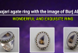 Shajari agate ring with the image of Burj Al Arab