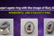 Shajari agate ring with the image of Burj Al Arab